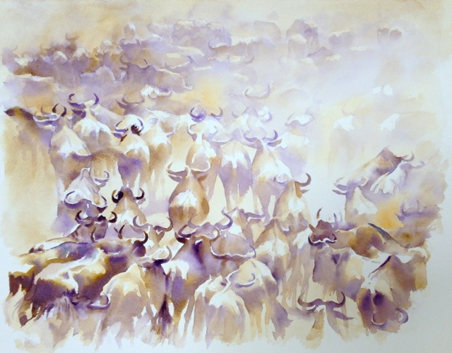 Serengeti Abstract, the Migration