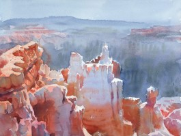 Castles in the air, Bryce Canyon watercolour 12 x 16 inches