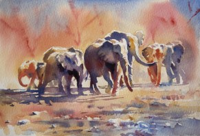 Colours of Africa, watercolour 8 x 11 inches