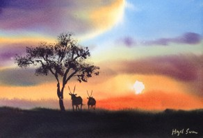 Kalahari sunset  7 x 11 inches