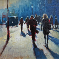 London Calling 8x8 inches oil on canvas