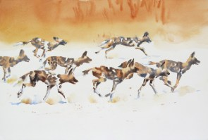 The Chase 15 x 22 inches watercolour