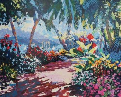 Tropical Gardens II 22x27 inches