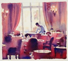 Waiting, The Ritz 9 x 10 inches8