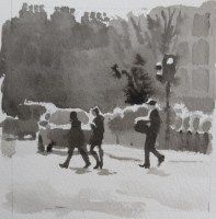 streets of london 1_watercolour_6 x 6_15 cm x 15 cm