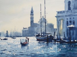 venice  rising 11 x 15 inches watercolour