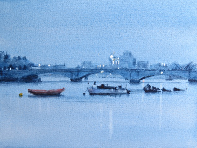 Blueness, The Thames at Putney