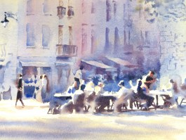 Alfresco  11 x 15 inches watercolour