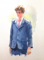 David   11 x 7 inches watercolour
