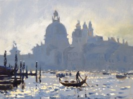 Dawn on the Grand Canal 12 x 16 inches oil on canvas