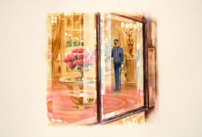 Entrance to the Ritz Hotle 6 x 6inches