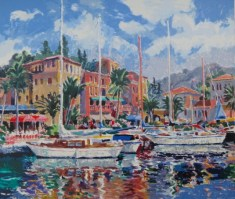 Harbour Mooring I  22 x 28 inc