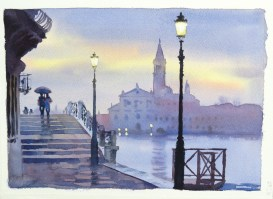Overnight Rain , Venice 10 x 14 inches