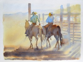 Riding Out 11 x 15 inches watercolour