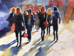 The Song of the Street 12 x 9 inches watercolour