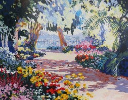 Tropical Gardens I   22x27 inches
