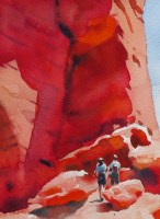 Valley of Fire   watercolour 11 x 8 inches