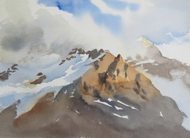 available Columbia Icefield  Canada  watercolour 10 x 12 inches